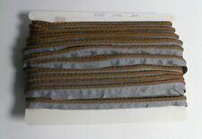 Rope/Cord Border Trim - Bronze / Blue  - Approx 24 meters #37L245