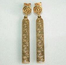 "Stunning Scottish 9ct Gold Ola Gorie ""Rysa"" Drop Dangle Earrings Edinburgh"