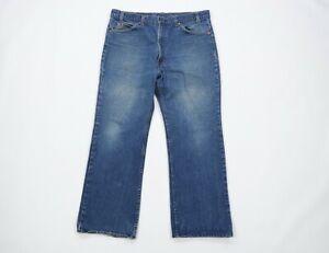 Vintage 70s Levis 20517 0217 Orange Tab Mens 38x28 Distressed Bootcut Jeans USA