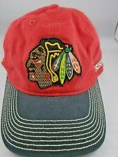 7928e1a1fea Chicago Blackhawks NHL CCM Adjustable Dad Hat Cap Red Black