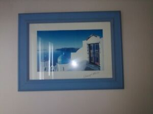 PHOTO FRAMED OF THE GREEK ISLAND SANTORINI 61CMX47CM