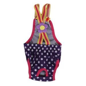 Dog Pet Diaper Menstrual Suspender Underwear Washable Shorts Purple Accessory