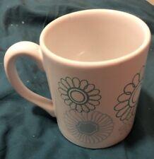 White Flower-Patterned Mug