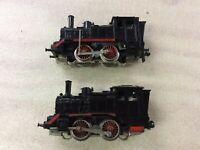 2 Mini Trix Steam Engine for Modeltrain H0