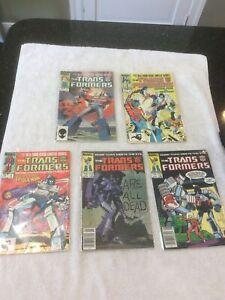 The Transformers Energon comic lot No's 1, 2, 3, 5 & 7