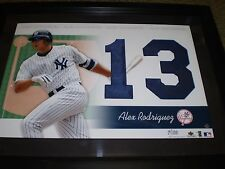 ALEX RODRIGUEZ UPPER DECK YANKEES FRAMED 13 JERSEY NUMBERS COLLECTION 19/100