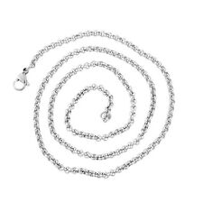 1PC New Stainless Steel Silver Tone 3mm Square Rolo Chain Necklace 52cm
