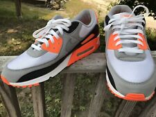 Men's Nike Air Max 90 Recraft Total Orange Size 13 CW5458-101