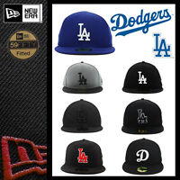 NWT NEWERA LA DODGERS GAME 59FIFTY FITTED CAP MLB CAP ON FEILD BLACK BLUE GREY