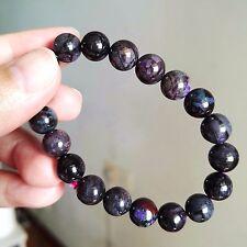 9mm Natural Purple Sugilite Gemstone Stretch Round Beads Healing Bracelet