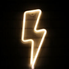 Lightning Neon Light Sign Night Light Operated by Usb/Battery Kids Room Decor