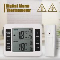 Wireless Digital Freezer Fridge Thermometer Indoor Outdoor Alarm Magnet Sensor