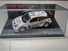 1/43 FORD FOCUS RS WRC-MONZA RALLY SHOW 2006-VALENTINO ROSSI- CAR MOTO FAN