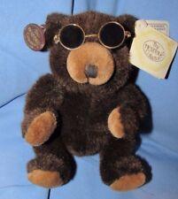 "VINTAGE TEDDY BEAR W SUNGLASSES 11"" GANZ JUNIOR PLUSH RARE HTF 1992 TOY HERITAGE"