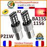 2 x Ampoule 15 LED ROUGE BA15S 1156 P21W VOITURE Feux Stop Veilleuse Ampoules