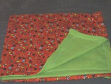 """Bugs Ants 42"""" x 35"""" Fleece & Flannel Baby Blanket Hand Made Girls Boys Insects"""
