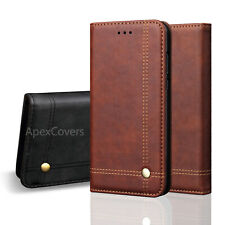 Vintage Real Leather Wallet Flip Case For iPhone 12 11 Pro Max XR Xs SE 8 7 Plus