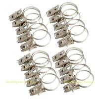 20pcs Stainless Steel Window Shower Curtain Rod Clips Rings Drapery Clips