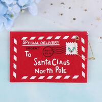 Red Santa Claus Christmas Envelope Pendant Tree Christmas Gift Party Decor RKZT
