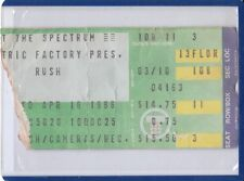 Rush April 16 1986 Spectrum Concert Ticket Stub