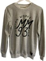 Pull&Bear Custom Works Marc Marquez '93 Size Medium Grey Jumper Pullover Crew