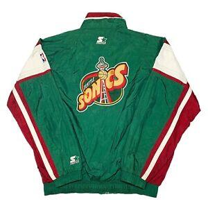 Vtg Rare NBA Seattle Supersonics Starter Windbreaker Jacket. Mens XL