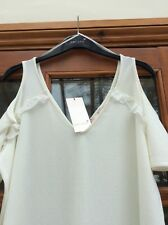 M&S Size 18 Ladies CUT OUT SHOULDER Top in IVORY Really BEAUTIFUL BNWT
