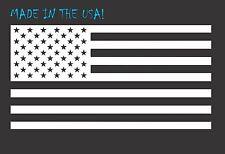 "6"" WHITE American Flag Vinyl Decal USA Freedom Car Truck Window Sticker"