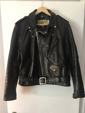 Vintage 80s Schott Bros Perfecto Leather Motorcycle Jacket - L