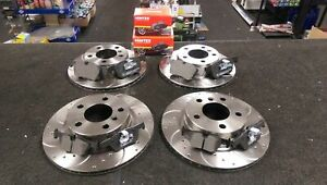 FOR BMW PERFORMANCE FRONT REAR DRILLED GROOVED BRAKE DISCS & PADS 340MM / 330MM