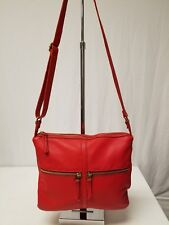 FOSSIL ERIN RED LEATHER CROSSBODY SHOULDER BAG PURSE  ZB5460