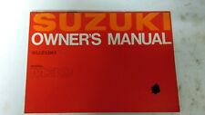 SUZUKI M30 OWNERS MANUAL  WITH WIRING DIA