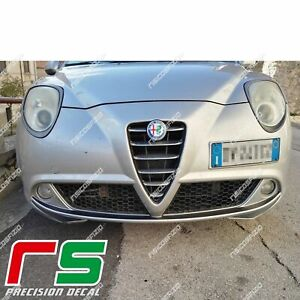 Alfa Romeo Mito ADESIVI Decal paraurti paracolpi baffi sticker tuning carbonlook
