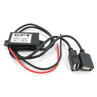 Convient Car Boat Motorcycle 2 USB Charger DC 12V To 5V 3A Power Adapter Supply