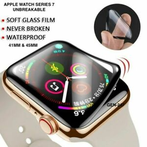 3D Full Cover Screen Protector for Apple Watch Series 7 45 / 41mm  Anti-Broken