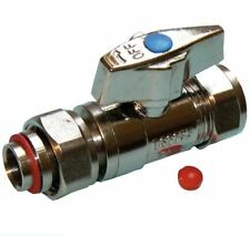 15mm Straight Chrome Service Valve with Butterfly Handle