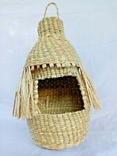 Bird House out door & indoor Hanging Natural reed Hand-Woven Eco-friendly