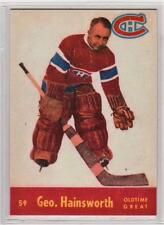 George Hainsworth 1955-56 Parkhurst Montreal Canadiens REPRINT Hockey Card #59