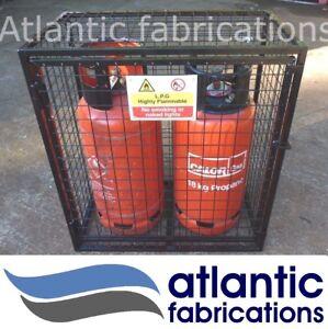 2 x Propane 19kg Gas cage - cylinder bottle storage with base
