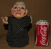 VINTAGE HAND PUPPETS HEAD HEADS GLOVE PUPPET PUNCH JUDY SEASIDE