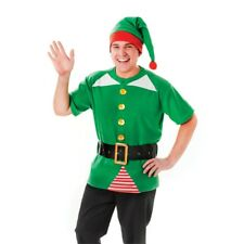 Unisex Green Jolly Elf Christmas Fancy Dress Costume Xmas Party Elves Outfit