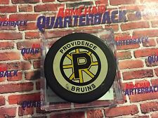 Providence Bruins Game-Used Hockey Puck December 1995 Rob Tallas Boston Bruins