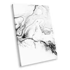 AB1750 Retro Black White Abstract Portrait Canvas Picture Prints Small Wall Art