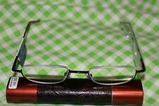 MAGNIVISION READERS  BY FOSTER GRANT(BROWN)+2.00 TUBE CASE INCLUDED