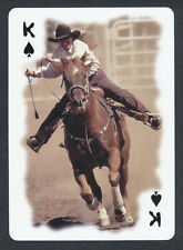 Rodeo cowboy horse playing card single swap king of spades - 1 card