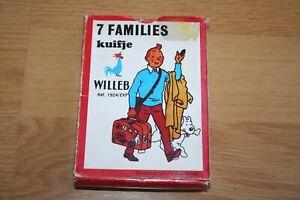 Jeu 7 Familles Ancien TINTIN 1977 WILLEB Complet Made in France Cartes Vintage