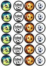 24 Muffin & Cupcake Aufleger  Oblate - Fondant  Fussball C1
