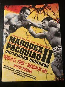 Pacquiao vs Marquez 2 Official Fight Program