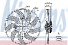 New Fan radiator for AUDI 85727 Nissens Top Quality