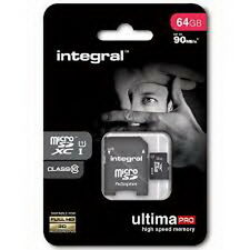 Integral 64GB Class10 UltimaPro MicroSD Memory Card